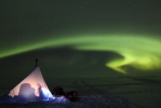 Camping site at Garden island... and wonderful northern lights!